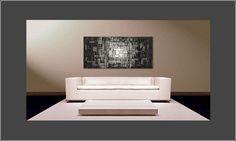 De moderne schilderij Moon Cubes 150x70cm - Schilderij XXL