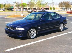 """BMW E39 1997 528i Montreal Blue M5 Styling 18"""" Wheels Clear LED Lighting"""