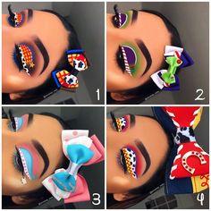 Amazing Eye Makeup Photos from - EYE Makeup Makeup Eye Looks, Eye Makeup Art, Colorful Eye Makeup, Crazy Makeup, Eyeshadow Makeup, Makeup Artistry, Eyeshadows, Kawaii Makeup, Cute Makeup