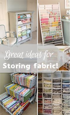Can we really get enough inspiration for storing fabric? I know I can't! Find one that works for you! - The Fabric Shopper