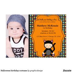 Sold. #Halloween #kids birthday costume card Available in different products. Check more at www.zazzle.com/graphicdesign