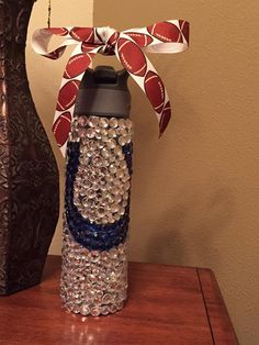 Indianapolis Colts bedazzled water bottle