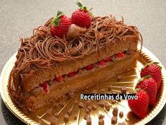 Receita Bolo recheado de strogonoff de chocolate