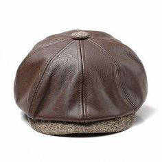 be402bd77f964 Mens Pure Color Windproof Warm PU Leather Beret Caps Comfortable Duck Hats  Casual Forward Caps is hot sale on Newchic Mobile.