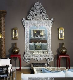 Mother of Pearl Mirror Living Room Mediterranean with Moroccan Mirror Mother Of