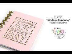 'Modern Romance' Happy Planner® Preview - CLASSIC - (want to use to track Mom's appts, errands, & home maintenance)