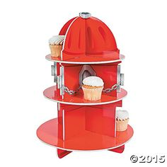 Fire Hydrant Cupcake Holder Stand (RED, 1) (1, 1 LB) Party Supplies http://smile.amazon.com/dp/B008I3R8JW/ref=cm_sw_r_pi_dp_SNMWvb1ZRQWBB