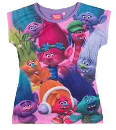 Trolls T Shirt violett  #Mädchen #Mode #Kinderbekleidung #Girls #Shirt #Trolls