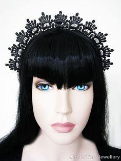 Black Lace Medieval Renaissance Burlesque by Missie77artJewellery