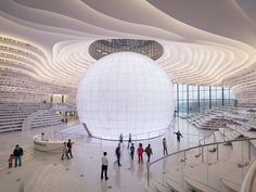 MVRDV shapes tianjin binhai library around spherical auditorium