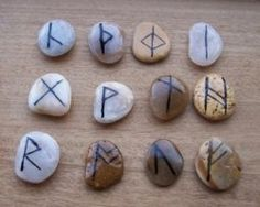 Step by step guide to making a rune set with stones