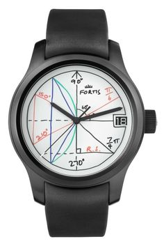 "Recall Your Math Classes With The Fortis 2pi Watch - by Patrick Kansa - see more about it on aBlogtoWatch.com ""When it comes to the so-called 'art watches,' there are a few brands that I would offer up as creating watches of this nature. Funnily enough, until today, Fortis was not a brand that I would have put into that category... Looking at the dial, you see what looks almost like a whiteboard with various geometry-related things scribbled down, with two pi symbols showing up as part of…"