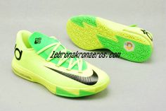 reputable site 278e8 848bb Volt Electric Green Nike Zoom KD 6 Womens Shoes For Sale Black 599424 701  Air Jordan