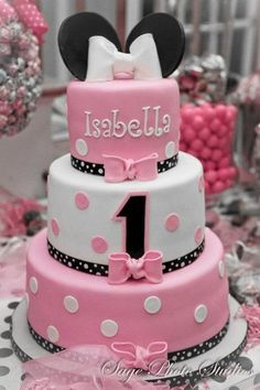 minnie mouse pink cakes