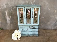 Vintage Jewelry Box  Upcycled Wooden Wardrobe  by TimelessNchic, $69.95