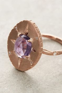 Amethyst Oval Ring | Anthropologie
