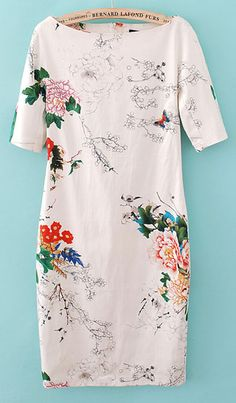 Spring fashion is always closely correlated with floral and butterfly, so this short sleeve dress is a necessity for your wardrobe. It features boat neck and sheath silhouette with overall floral and butterfly to create a touch of colorful vibe. Just pair it with high heels to hang out with friends having a nice day.
