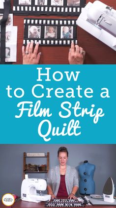 A film strip quilt can be a fun way to showcase photos printed directly onto fabric. Watch this video to learn how to make this fun quilt project. Quilting Tips, Quilting Tutorials, Quilting Projects, Quilting Designs, Sewing Tutorials, Strip Quilt Patterns, Strip Quilts, Modern Quilt Blocks, Photo Quilts
