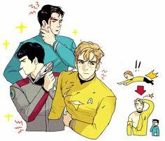 Leonard H. McCoy, James T. Kirk, Spock    Star Trek AOS