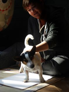 Just-Yvette, Leroy my Jack Russel distracting  me while I try to draw