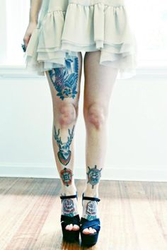 Leg/Ankle/Foot tattoos with heels 4-ever <3