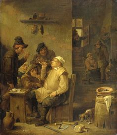 David Teniers the Younger – Bricklayer smoking – 1651