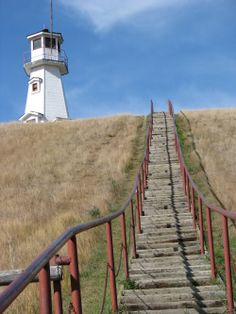 Cochin SK - the only lighthouse in the province! Right behind my cabin! Canada Trip, Canada Travel, Land Of The Living, Beautiful Vacation Spots, Ocean Scenes, Winding Road, The Province, Car Travel, Weird And Wonderful