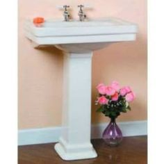 """Check out the Barclay 3-644 Sussex 550 Series 4"""" Centerset Pedestal Bathroom Sink priced at $225.62 at Homeclick.com."""