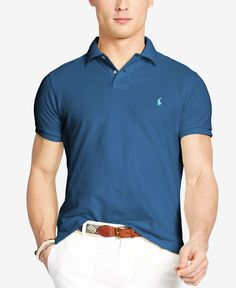 Polo Ralph Lauren Men s Custom-Fit Mesh Polo Shirt Men - Polos - Macy s 627437f653d