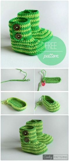 17 Free Crochet Baby Booties Pattern / Crochet Baby Shoes - Page 3 of 4 - I Heart Crafty