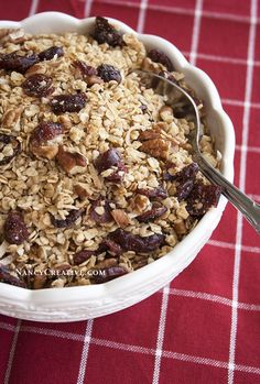 I've always made homemade granola with old-fashioned rolled oats–I've read that they work better in granola recipes. But one evening when I was wanting to make some granola, I discovered I didn't h...