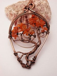 Beautiful tree of life wire wrap pendant