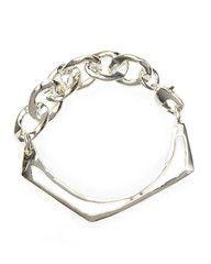 Sterling Silver Optic Chain Cuff