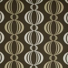 "Brewster Home Fashions Verve Retro Orb 33' x 20.5"" Geometric 3D Embossed Wallpaper Color: Gold / Chocolate Brown"