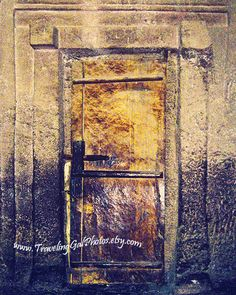 Travel photography door doorway brown yellow by TravelingGalPhotos, $30.00 #door