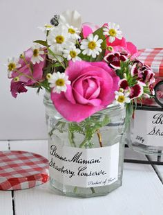 Repurposed Jam Jars
