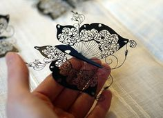 Paper Butterfly - 2, by artist Hina Aoyama.