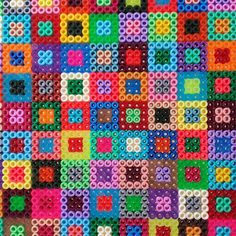 Square design hama beads by ArtBYbeadS