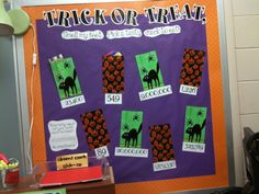 Tales of Frogs and Cupcakes: Trick or Treat Math Bulletin Board
