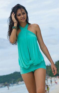 Mesh Splicing Halterneck Shirred One-piece Swimsuit