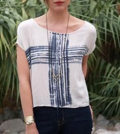 Hand-Dyed Knit Shirt