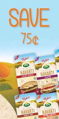 #Save 75 cents on Arla Dofina Havarti #Cheese