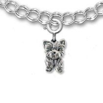 Sterling Silver Yorkie Puppy Charm for%2