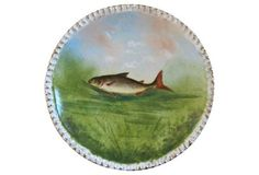 Limoges Hand-Painted Fish Wall  Plate