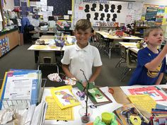 May 18: Brycen was excited to show off his classroom at the open house.
