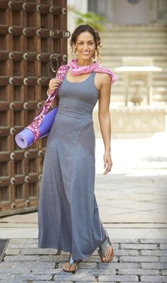 Juil Pewter Brio featured in the 2013 Spring @Athleta • Power to the She Catalog! #StayConnected  Twist & Turn Maxi Dress | Athleta Spring 2013 Collection
