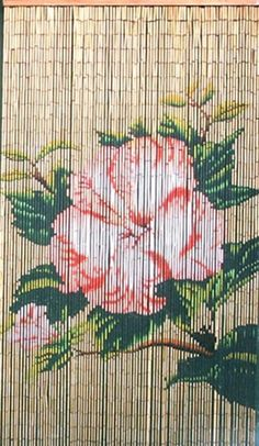 Flower Bamboo Beaded Curtain by Bamboo 54