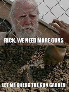 The Walking Dead Rick Grimes Herschel zombie