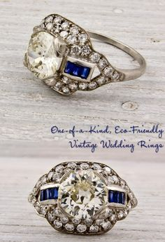 Rare Finds: Vintage Engagement Rings and Wedding Bands | OneWed hannahriley