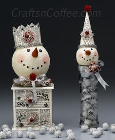 How would you design these Vintage Snowmen? And planning for 2014